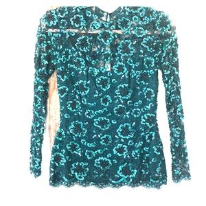 Tops - Vintage beaded and sequined dress top